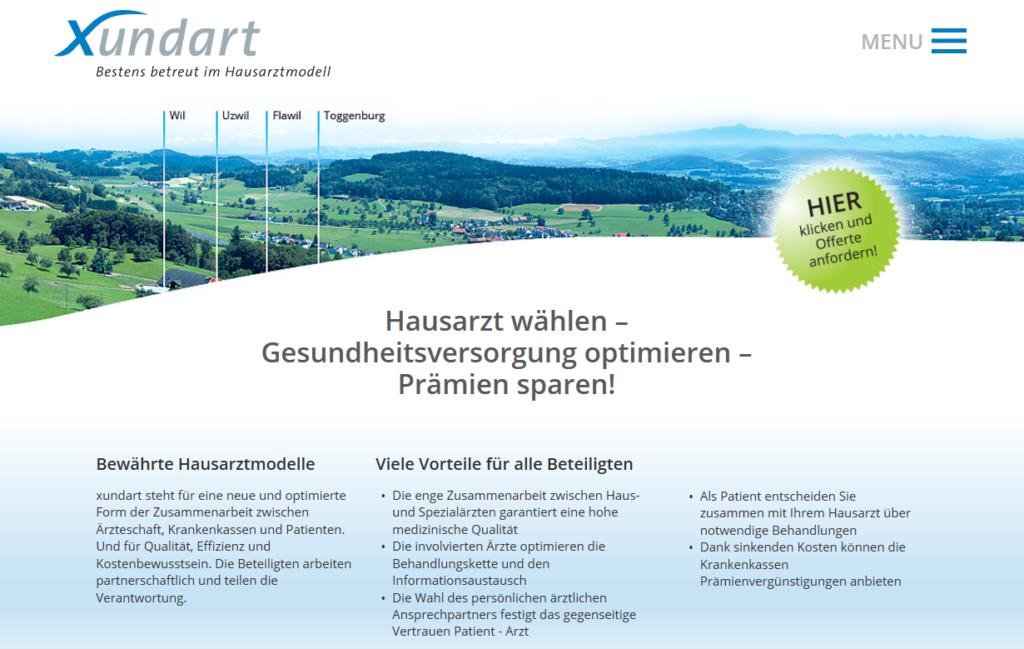 Neue Website xundart.ch